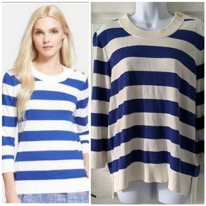 Kate Spade Blue and White Striped Sweater